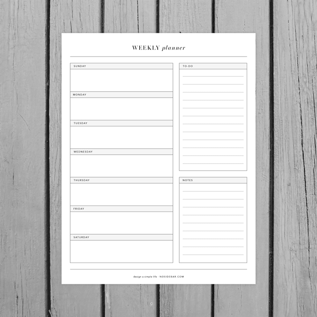 Use these free minimalist printables to help design a simple life.